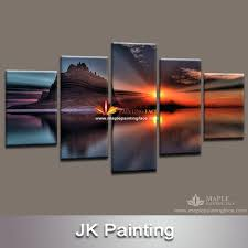 5 panel canvas wall art uk