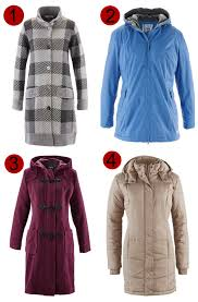 winter plus size coats bonprix duffle quitled waterproof checked wool