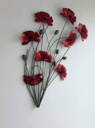 red poppy wall art red poppy wall art metallic in and wear red poppies metal metallic