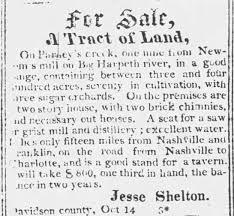 Jesse Shelton and His Pegram Plantation – Down Home Genealogy