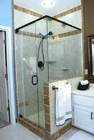 half wall shower enclosure glass doors specialized enclosures