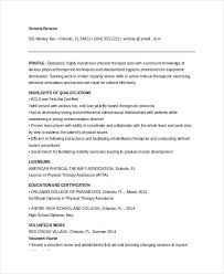 Counseling Psychologist Sample Resume Extraordinary Physical Therapist Resume 48 Free Word PDF Documents Download