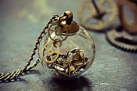 mini glass orb watch parts steampunk pendant
