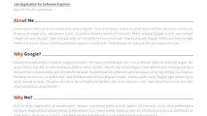 Coverletter Latex Moderncv Cover Letter Templates Format Document