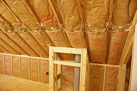 how to insulate a ceiling. Plain Ceiling Chimney Chase Framing Is Obstacle When Hanging Foam Insulation On Sloped  Ceiling Intended How To Insulate A Ceiling