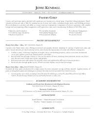 Chef Resume Example Pastry Chef Resume Template Chef Resume Examples