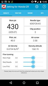 Jetting For Honda Cr Dirt Bike 2 2 Apk Download Android