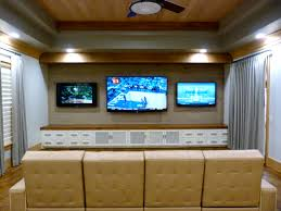 sport corner man cave decor. Theater Room With Built In Media Cabinet From Majestic Construction Sport Corner Man Cave Decor