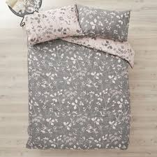 wilko pink and grey ink brush fl double duvet set image 3