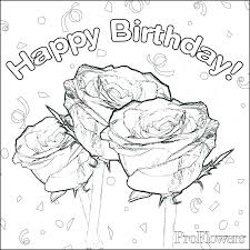 Happy Birthday Cards To Color Free Birthday Coloring Pages Birthday