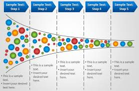 Powerpoint Funnel Chart Template Free Horizontal Process Funnel Powerpoint Template Free