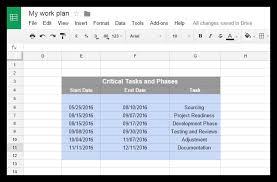 Pert Chart Google Docs How To Make A Gantt Chart In Google Docs Free Template