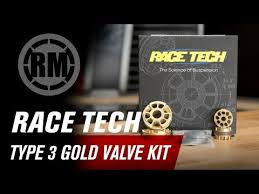 Race Tech Type 3 Motorcycle Fork Gold Valve Kit