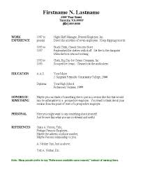 Free Simple Resume Templates Basic Template Format General Easy