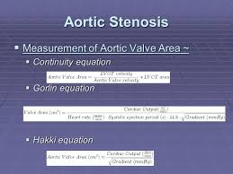 32 aortic stenosis measurement of aortic valve area continuity equation