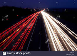 How To Take Pictures With Light Trails Car Light Trails Dusk Night Motorway Highway Road Street Red