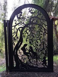 custom metal gate custom art pedestrian