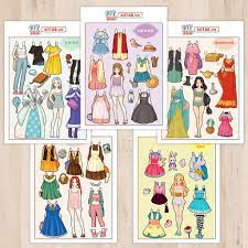 Mô hình giấy Búp bê giấy Set BBG 0029 - Kit168.vn Shop Online mô hình giấy