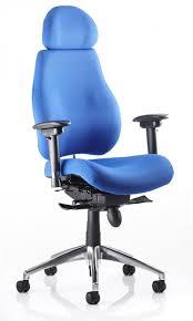 chair with headrest. chiro plus ergonomic office chair with headrest ( choice of colours ) e