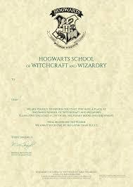 Hogwarts Acceptance Letter Personalised Hogwarts Acceptance Letter Harry Potter Store 1