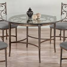 round glass kitchen table. Haywood Round Glass Dining Table By Wesley Allen - Shown In A Copper Bisque Finish Kitchen