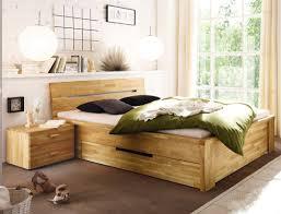 Massivholzbett Caspar Nachttisch Wildeiche Geölt Stauraumbett Bett