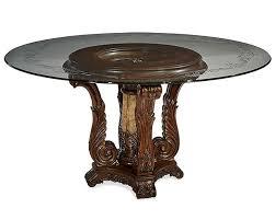 baffling design glass top dining table
