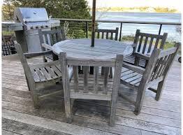 barlow tyrie 13pc teak patio set with