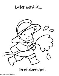 Animaatje Kleurplaten Bc De Brandweer Brandweerman Brandweer