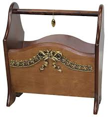 Elegant Magazine Holder Simple Amazon Elegant Solid Wood Magazine Rack With Gold Bow Home