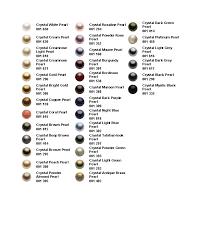 Pearl Color Chart Swarovski Color Charts Sparkleez Crystals