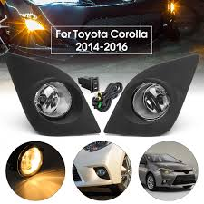 2014 Toyota Corolla Fog Light Bulb For Toyota Corolla 2014 2016 1 Pair Car Front Bumper Fog Light W Switch Grill Cover H11 Bulbs Car Styling Driving Lamp