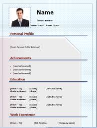 Editable Resume Template Enchanting Download CV Template Free And Editable On Microsoft [Word] CV