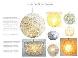 capiz shell pendant lotus collection