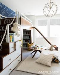 mid century modern kids bedroom.