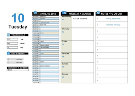 Business Day Planners 40 Printable Daily Planner Templates Free Template Lab
