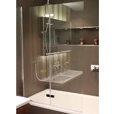 hart double folding bath screen