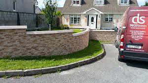 stone effect garden wall and front