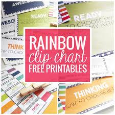 Rainbow Clip Chart Freebie More Teach Junkie