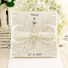 Details About 10x Diy Laser Cut Lace Wedding Invitations Card Envelope W Ribbon Invite Au