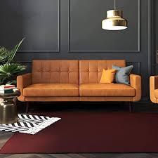 Amazon.com: Better Homes & Gardens Nola Sofa Bed (Camel Faux ...