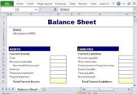 balance sheet template simple balance sheet maker template for excel