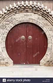 Decorating circular door images : circular china door, chinese wall in xian Stock Photo, Royalty ...
