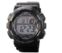 Electronic Digital <b>Watches Sports</b> Alarm Stopwatch 30M <b>Waterproof</b> ...