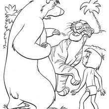bagheera and mowgli in the jungle jungle book main characters coloring page