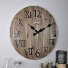 firstime rustic weathered barnwood wall clock