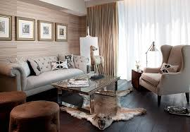 posh masculine living room with a cool global style by rs3 designs
