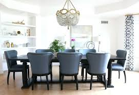 dining room wingback chairs dining room with blue restoration hardware chairs by studio tufted wingback dining