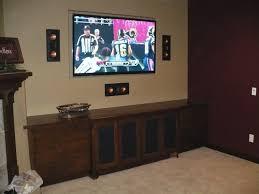 klipsch in wall speakers. classic family room with black 3 pieces klipsch wall speakers design, brazilian walnut tv cabinet in