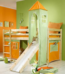 bunk bed with slide and desk.  Bed Office Charming Wood Loft Bed With Slide 18 Surprising Bunk 25 Terrific  Kids Green And Yellow Desk A